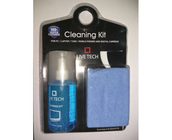 Live Tech 2 in 1 Screen Cleaning Kit For Laptops, Mobiles, LCD,LED, Computers CK02 (120 ml)