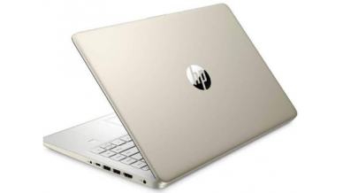"""HP 14s Notebook Thin and Light Laptop (11th Gen Core i7-1165G7, 8GB RAM, 512GB SSD, 14"""" FHD, Intel UHD Graphics, Windows 10, Office H&S, Backlit Keyboard, 1.46 kg) Pale Gold + Natural silver"""
