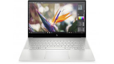 """HP ENVY 15.6"""" FHD Laptop 2020 Designers Delight edition with Alexa (10th Gen Core i7-10750H, 16GB RAM, 1TB SSD, 6GB GTX 1660ti Graphics, Windows 10, Office H&S 2019, 16HRs Battery) Natural Silver"""