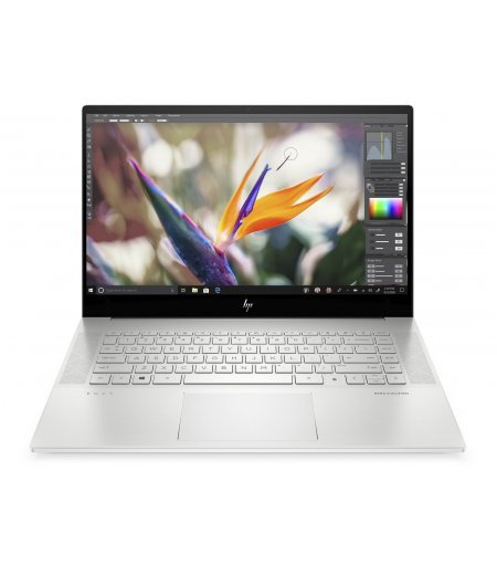 "HP ENVY 15.6"" 4K UHD Touch 400 nits Laptop 2020 Designers Delight edition with Alexa (10th Gen Core i7-10750H, 16GB RAM, 1TB SSD, 6GB RTS 2060 Max-Q Graphics, Windows 10, Office H&S 2019, 83 Wh Battery) Natural Silver"