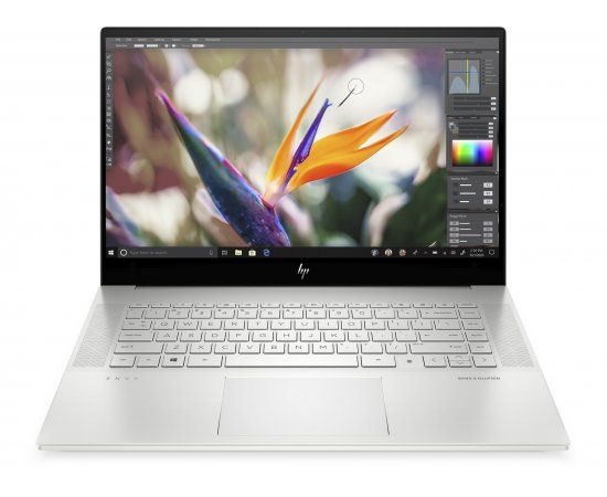"HP ENVY 15.6"" FHD Laptop 2020 Designers Delight edition with Alexa (10th Gen Core i7-10750H, 16GB RAM, 1TB SSD, 6GB GTX 1660ti Graphics, Windows 10, Office H&S 2019, 16HRs Battery) Natural Silver"