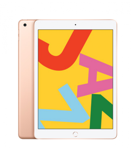 "Apple iPad (7th Gen, 10.2"", 32GB, Cellular) Gold"