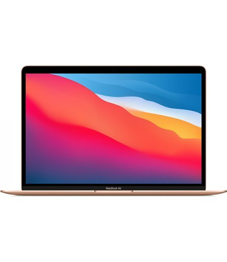 """Apple MacBook Air 2020 Laptop (Apple M1 chip with 8‑core CPU, 7‑core GPU and 16‑core Neural Engine, 8GB RAM, 256GB SSD, 13.3"""" Retina Display, Touch ID) Gold"""