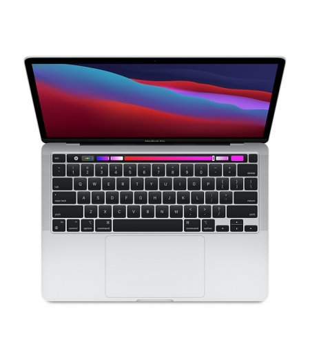 """Apple MacBook Pro Laptop 2020 (Apple M1 chip with 8-core CPU, 8-core GPU and 16-core Neural Engine, 8GB RAM, 256GB SSD, 13.3"""" Retina Display, Touch Bar, Touch ID) Silver"""