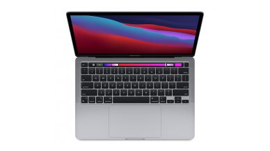 """Apple MacBook Pro Laptop 2020 (Apple M1 chip with 8-core CPU, 8-core GPU and 16-core Neural Engine, 8GB RAM, 512GB SSD, 13.3"""" Retina Display, Touch Bar, Touch ID) Space Grey"""