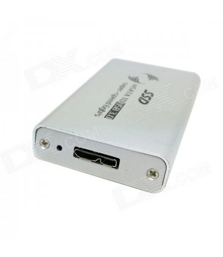 Mix Color 50mm mini PCI-E mSATA Solid State Disk SSD to USB 3.0 Hard Disk Case Enclosure w/ Cable