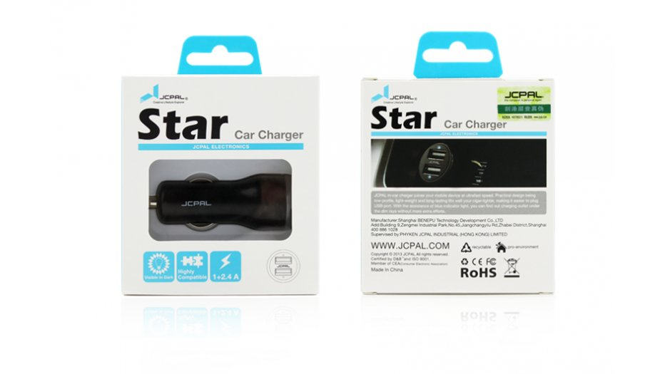 JCPAL Star Dual USB Car Charger 3.4A iAccessories