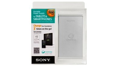 Sony Portable Power Supply for Tablets & Smartphones 7000 mAh